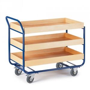 Tischwagen 80 mm Randhöhe (3 Etagen)