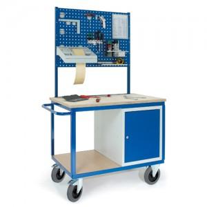 Werkstattwagen mit Stahlschrank 2xLochplatten