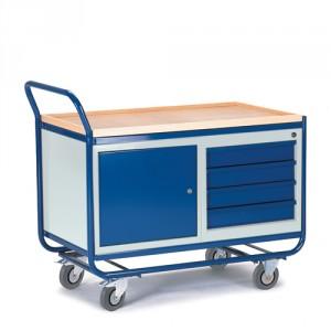 Montagewagen mit Stahl- und Schubladenschrank
