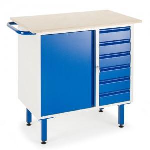 Kleine Werkbank 6 Schubladen 1 Stahlschrank