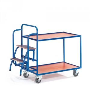 Tischwagen mit 2 Trittstufen (2 Etagen)