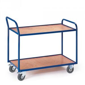 Tischwagen mit 2 Etagen (Griff hoch)