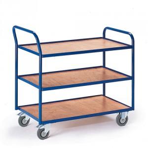 Tischwagen mit 3 Etagen (Griff hoch)