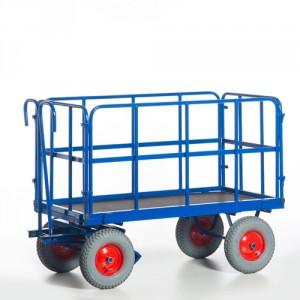 Handpritschenwagen mit Rohrgitterwänden