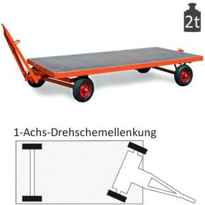 Schwerlast-Industrieanhänger mit 1-Achs-Drehschemel-Lenkung (2t)