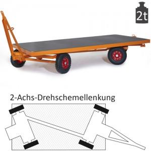 Schwerlast-Industrieanhänger mit 2-Achs-Drehschemel-Lenkung (2t)
