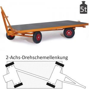 Schwerlast-Industrieanhänger mit 2-Achs-Drehschemel-Lenkung (5t)