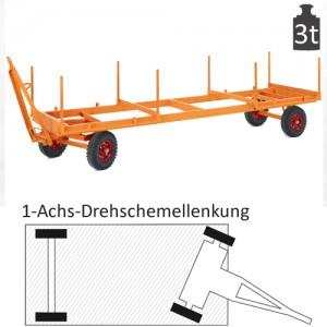 Langmaterialanhänger mit 1-Achs-Drehschemel-Lenkung (3t)