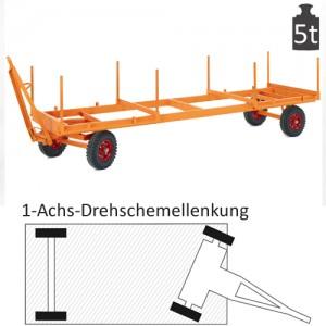 Langmaterialanhänger mit 1-Achs-Drehschemel-Lenkung (5t)
