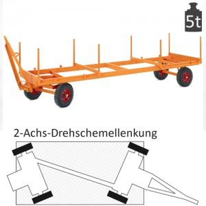 Langmaterialanhänger mit 2-Achs-Drehschemel-Lenkung (5t)