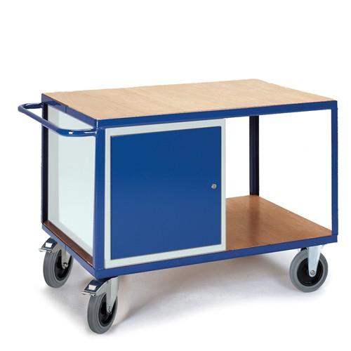 Großer Werkstattwagen mit Stahlschrank | Rollcart