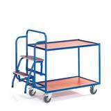 Tischwagen mit Trittstufen